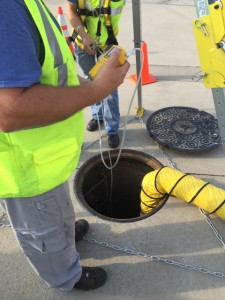 4 gas testing confined space